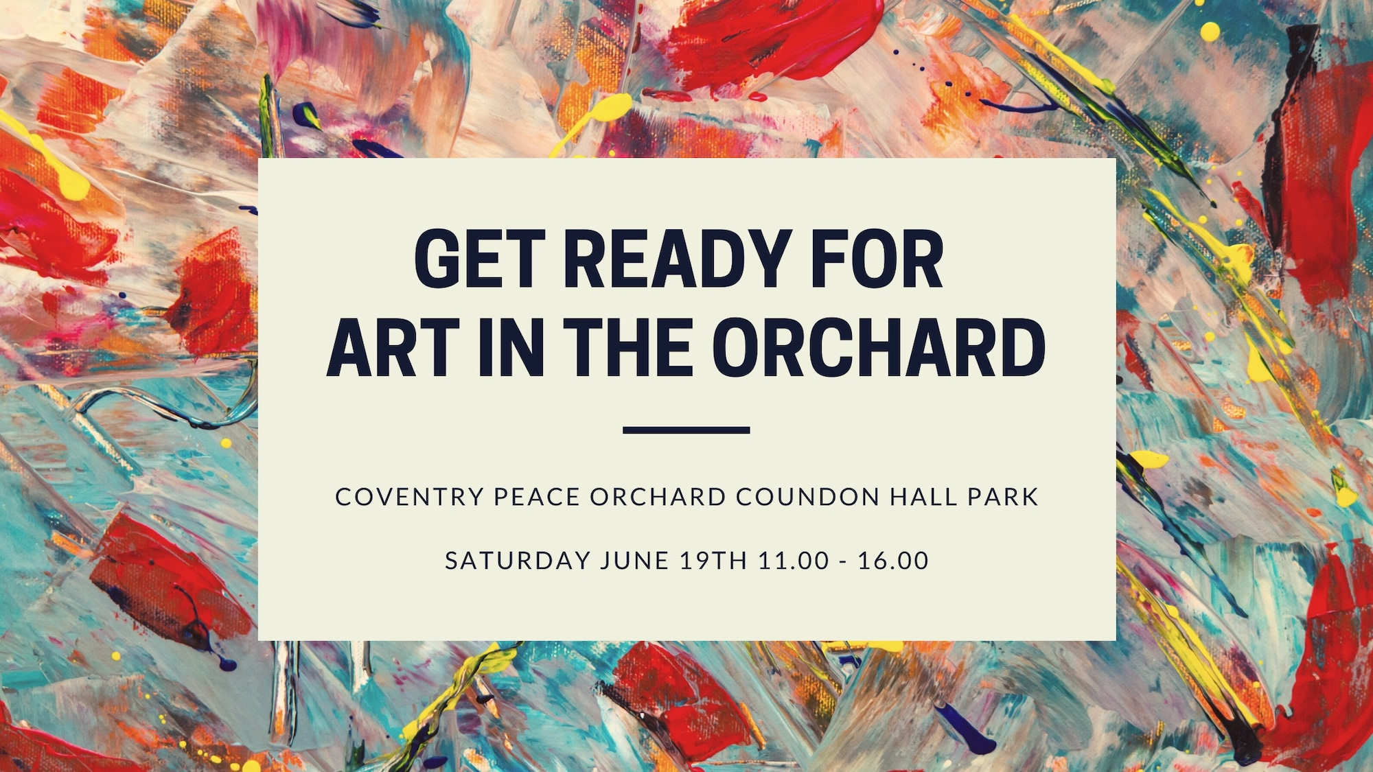 Art in the Orchard 19th June 11.00 - 16.00